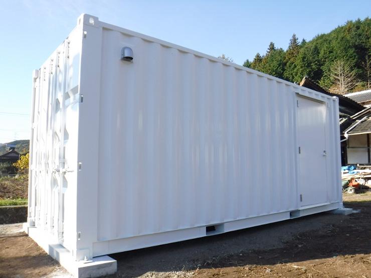 コンテナ(ISO)20fドライ86サイズ改造ユニット「W2438xL6058xH2591」
